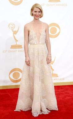Claire Danes wearing Armani Privé at #Emmys