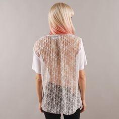Antipodium x Goodhood : 5th Anniversary Lace Back Tee White