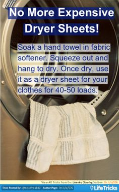 Laundry Cleaning - No More Expensive Dryer Sheets!