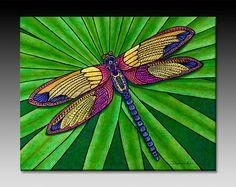 Dragonfly Ceramic Tile