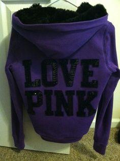 Victorias Secret Pink Fur Hoodie