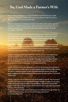 So God Made a Farmer's Wife by Linda Bunn