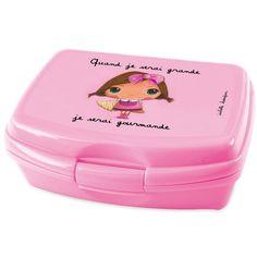 "Le coin des créateurs - Boîte à goûter ""Quand je serai grande, je serai gourmande"" #lecoindescreateurs #quandjeseraigrand #isabellekessedjian #ecole #rentree #trousse #gourmande #rose"