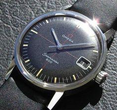 Vintage Omega Seamaster 600 With Black Matte Finish Crosshair Dial - omegaforums.net