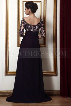 Ericdress Lace Empire Waist Off-the-Shoulder Long Taline's Mother of the Bride Dress 2