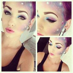 fairy/ galaxy makeup #halloween #cosmiccostume #galaxy