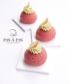 Discover recipes, home ideas, style inspiration and other ideas to try. Small Desserts, Gourmet Desserts, Mini Desserts, Health Desserts, Plated Desserts, Cinnamon Desserts, Patisserie Paris, Mini Patisserie, Choux Pastry