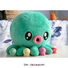 KAWAII OCTOPUS ♥ Follow Kigu Kawaii for more cute stuff! #kigukawaii #cute…