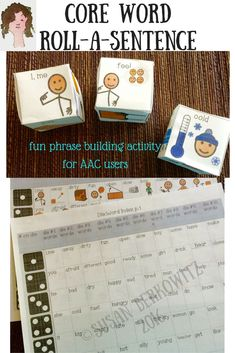 Are your AAC users stuck at the 1-2 word response level? Do you need a fun way to expand those into phrases and sentences? $ Try this roll-a-phrase activity to build more phrases in a fun format.