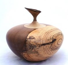 Hand turned wooden lidded vessel or burial urn by TreesInsideOut