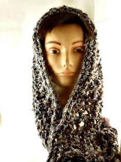 Knit Scarf circular, hand knit soft scarf, fashion scarf knitted. $30.00, via Etsy.