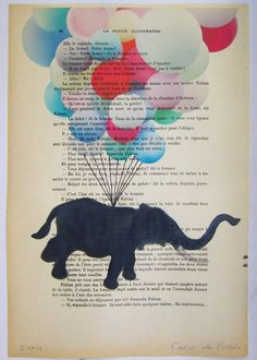 Flying elephant ORIGINAL ARTWORK Hand Painted Mixed by Cocodeparis, $10.00