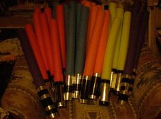Star wars party ideas - Light sabers made from swimming noodles and duct tape.  For my son's birthday party last year, the kids decorated their own noodles with duct tape and took them home as their host gift.  Some kids doubled the noodles up like Darth Maul's light saber.  My favorite all-time idea because it's cheap, fun and the kids just LOVED it.