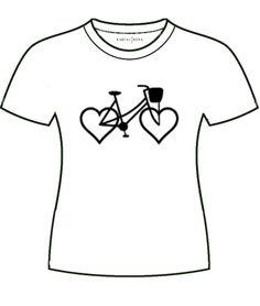 RUOTALIBERA Women t-shirt Modello/Model: Bicycle Love Colore/Colour: bianco/white taglia/size: S,M,L