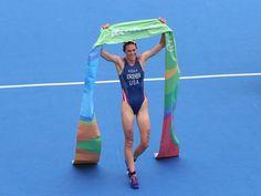 2016 RIo Olympics women's Triathlon winner Gwen Jorgensen