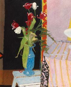 """huariqueje: """" Tulips - Maurice Brianchon 1965 French 1899-1979 Oil on canvas """""""