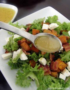 Ensalada otoñal con calabaza moscada (butternut), panela y aderezo de sidra de manzana – Pizca de Sabor