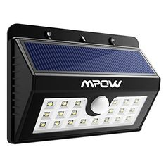 【3 Smarter Sensor Modes for Your Diverse Needs】 With the old version, there was only one mode of operation. Now with this new version, you can choose 3 different ways for the solar light to operate based on your needs. 【More Efficient Solar Panel & Fast Charging】 The LED solar panel has been updated to a laminate version which is more efficient at converting the sunlight into battery charging power. Mpow motion sensor light also has a life expectancy three times l