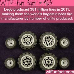 how many tires does lego produce? -WTF fun facts #facts