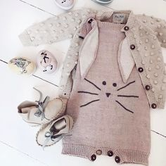 """524 Likes, 15 Comments - Shirley Bredal (@shirleybredal) on Instagram: """"Repost from @mreiness 🌿🌸🐰, featuring our dusty pink bunny suit and bubble cardigan. . . . . . .…"""""""