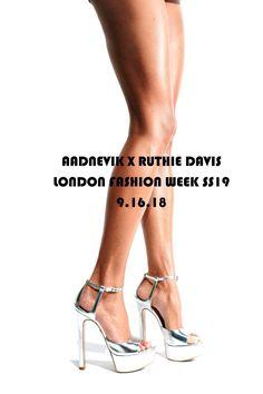 "b9d554175069 Ruthie Davis  SS19 ""Award Season"" silver platform heels. Ruthie Davis"