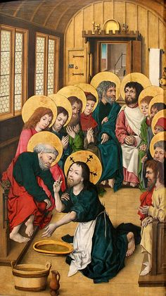 The Housebook Master. The Footwashing of the Apostles. c.1475-80