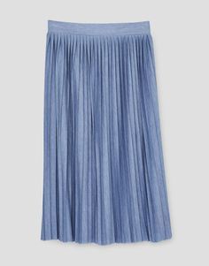 Pleated midi skirt - Skirts - Clothing - Woman - PULL&BEAR Hungary