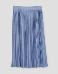 Pleated midi skirt - Skirts - Clothing - Woman - PULL&BEAR Hungary