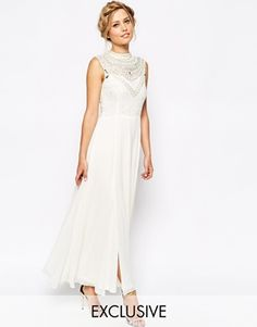 Shop Frock and Frill Embellished Maxi Dress With Thigh Split at ASOS. Order now with multiple payment and delivery options, including free and unlimited next day delivery (Ts&Cs apply). Frock And Frill, Costume, Prom Dresses, Formal Dresses, Bridal Looks, Dress Skirt, Maxi Skirts, Playing Dress Up, Frocks