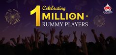Reaching yet another milestone, India's favorite rummy site, Classic Rummy has over a million plus player base! Rummy Online, Online Games, Games To Play, Card Games, Base, Indian, Classic, Cards, Classical Music