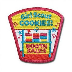 Camp girl scouts sew on patch 18463 125 playful camp souvenir cookie booths coming soon here at girl scouts western pa girl scout cookie booth patch publicscrutiny Image collections