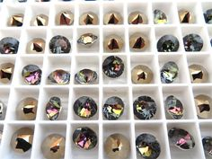 6 Crystal Tabac Swarovski Crystal Chaton Stone 1088 by BeadwareIL-$3.75,12-$7.35