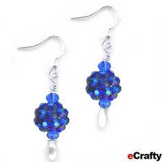 DIY Christmas Jewelry | DIY Holiday Sparkle Earrings Recipe from eCrafty.com | DIY Jewelry ...