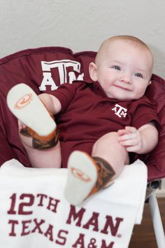 Texas A & M 12th Man #Baby #Photography