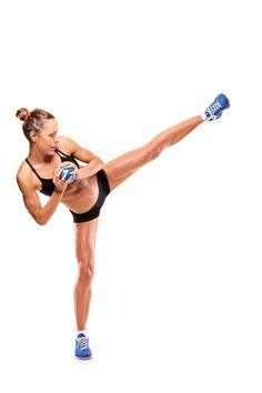 Kickboxing Challenge- 2 videos to choose from. The Pop Kicks girls are annoying but it's a great workout. I do it 2x through.