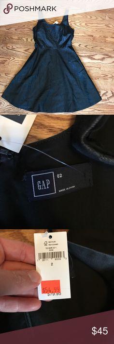 Gap dress Black Denim Size 2 NWT beautiful black Denim dress. Size 2 GAP Dresses
