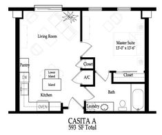 Casita Ideas on 2 br bath house plans