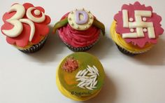 OMG Rakhi cupcakes!! So cute! Especially the bottom one which looks like a rakhi thali!