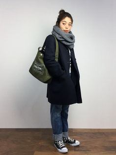 Folk Fashion, Asian Fashion, Winter Fashion, Girl Fashion, Over 50 Womens Fashion, Unisex Fashion, Korean Winter Outfits, Straight Cut Jeans, Daily Wear