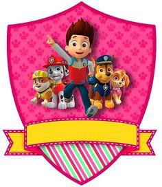 Hermosos escudos de Paw Patrol, o Patrulla Canina en el idioma español, para descargar, darle el tamaño deseado, y tal vez aplicar como etiquetas para identificar las pertenencias de los niños. Otr…