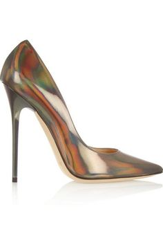 JIMMY CHOO Anouk holographic leather pumps  |  @  shoes 1