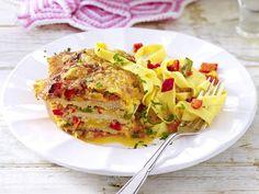 Schnitzel - klassisch, gerollt & überbacken - paprika-schnitzel-lasagne  Rezept