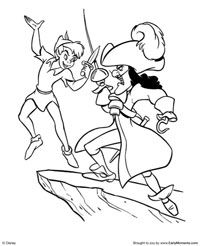 Pirate Coloring Pages, Free Coloring Pages, Adult Coloring, 60th Anniversary, Captain Hook, Neverland, Peter Pan, Parties, Fiestas