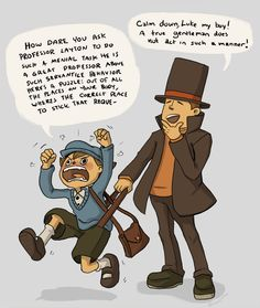 This is why Layton's the gentleman and Luke is not.