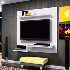 Shop VonHaus TV Bracket 32 Inch To 70 Inch - Ultra Strong Tilt TV Wall Mount for VESA, Weight Capacity - TV Wall Bracket. Tv Cabinet Design, Tv Unit Design, Home Room Design, Living Room Designs, Lcd Wall Design, Lcd Units, Modern Tv Wall Units, Tv Unit Furniture, Tv Wall Cabinets
