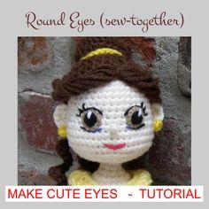 Ravelry: Eyes for Amigurumi Dolls pattern by Crochet Cute Dolls Crochet Lace Edging, Crochet Doll Pattern, Crochet Patterns Amigurumi, Amigurumi Doll, Crochet Dolls, Crochet Flowers, Crochet Stitches, Crochet Eyes, Crochet Baby Hats