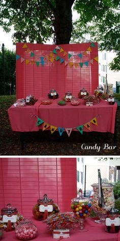 candy bar, réalisations des étiquettes