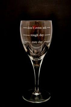 Funny wine glass
