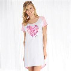 Breast Cancer Heart of Flowers Sleepshirt