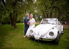 We hire out VW Campervans for Irish weddings. This is Samantha our 1973 VW Karmann Convertible Beetle. Please note this vehicle is only available for promotion purposes. Irish Wedding, Vw Beetles, Classic White, Camper Van, Convertible, Monkey Business, Weddings, Vehicles, Promotion